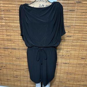 Jessica Simpson Black Cowled Sleeve Dress